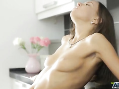 Thin, but enduring cock satisfied wonderful girl
