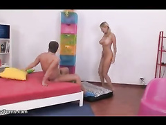 Insatiable blonde chick seduces her best friend