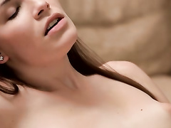 Tiny boobed brunette got hotly excited by fucker's tongue