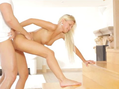 Beautiful young blonde gets passionately fucked in hot poses