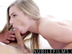 Charming sexy blonde babe gets hotly excited and fucked hard by boyfriend