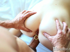 Ginger beauty girl Alice Green gets pleased with passionate hardcore anal fuck