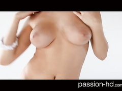 Steaming sexy boobed brunette chick Holly Michaels enjoys hardcore fuck
